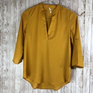 Live 4 Truth top with v neck mustard yellow
